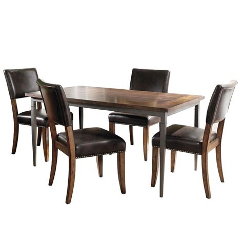 hillsdale furniture cameron 5 grey dining set
