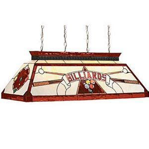 stained glass pool table light fixture cf quot billiards quot red glass pool table light fixture loria