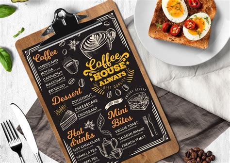 Check out our coffee menu design selection for the very best in unique or custom, handmade pieces from our there are 148 coffee menu design for sale on etsy, and they cost us$ 12.72 on average. Coffee Menu Template   Food menu, Coffee menu, Food menu ...