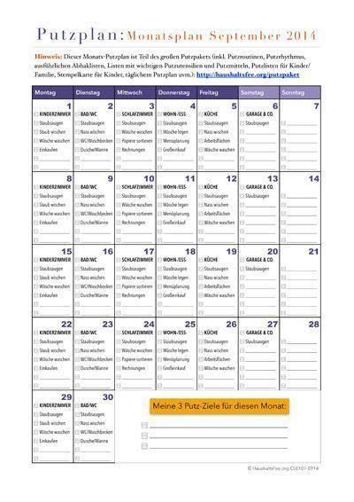 Wohnung Putzen Plan by Checklisten Jetzt Im Shop Entdecken Und Downloaden