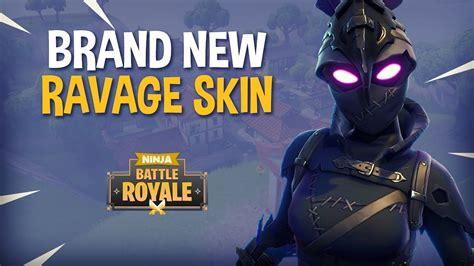 ravage skin fortnite battle royale gameplay