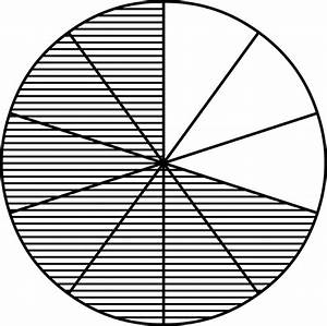 Fraction Pie Divided Into Tenths