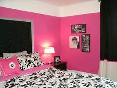 Dark Pink Bedroom Dramatic Hot Pink Black White Teen Bedroom Contemporary Bedroom