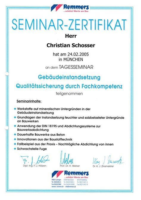 zertifikate ambientebau