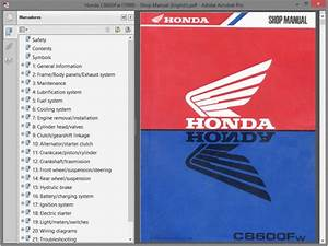Honda Cb600 - Service Manual - Manuale Officina