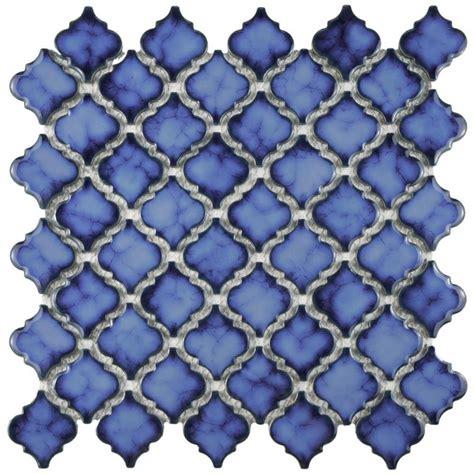 beltile moroccan zellige porcelain mosaic glossy cobalt