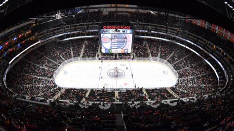 rogers place oilers  home draws rave reviews nhlcom