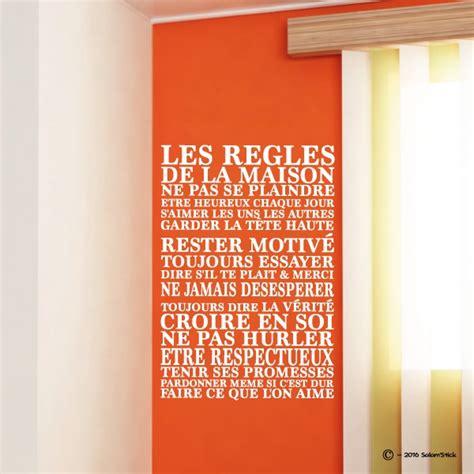 stickers regles de la maison sticker les r 232 gles de la maison