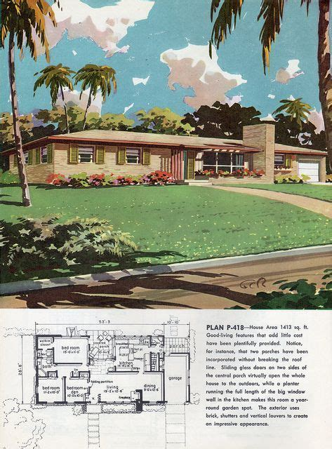 ranch mid century modern house plans vintage house plans modern house plans
