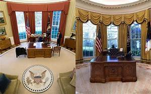 Oval Office Redecorated President Donald Trump