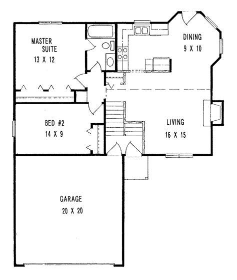 small minimalist  bedroom house plans  large garage