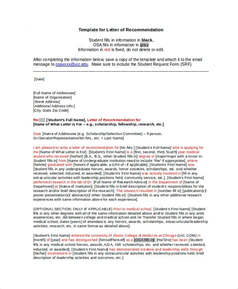 sample scholarship recommendation letter  examples