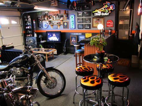 harley davidson pub man cave garage ideas smart garage