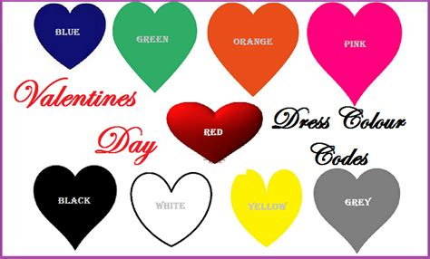 valentines day colors which color should you wear on a s day