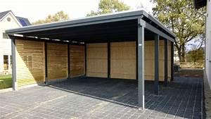 Carport Maße Für 2 Autos : doppelcarport mit sichtschutz ~ Michelbontemps.com Haus und Dekorationen