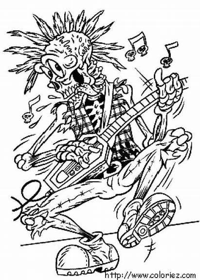 Coloriage Halloween Rock Roll Pages Disney Coloriez