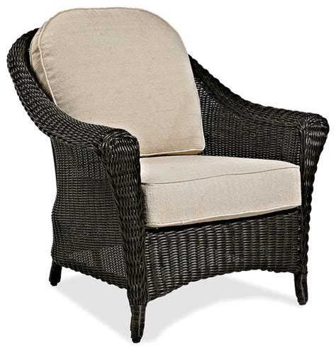 cottage wicker outdoor club chair traditional patio