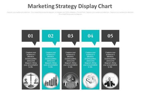 marketing strategy display chart   powerpoint