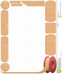Plaster Frame Adhesive Bandage Stock Vector - Illustration ...