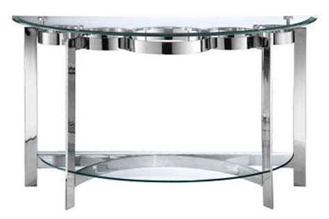 Curvy Chrome Glass Sofa Table At Gardner White