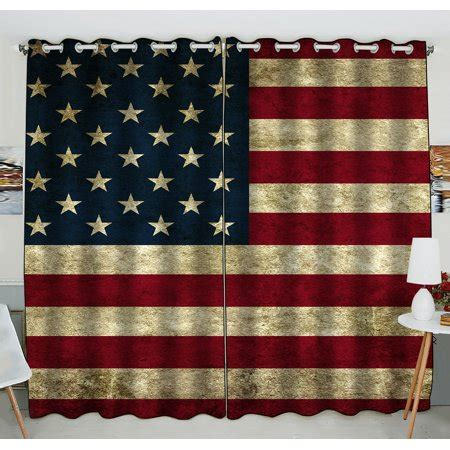 American Draperies by Gckg American Flag Window Curtain American Flag Grommet