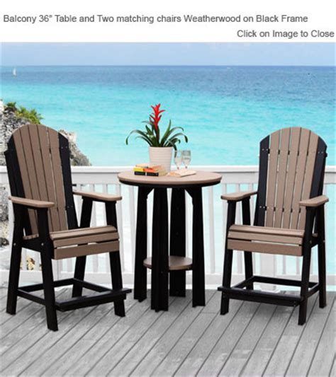 Outdoor Balcony Chairs by Outdoor Poly Furniture Luxury Poly Balcony Chair