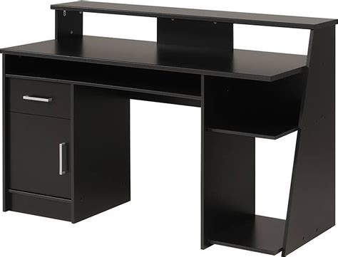 Black Corner Computer Desks For Home by Black Wood Corner Computer Desk Overstock Review And Photo