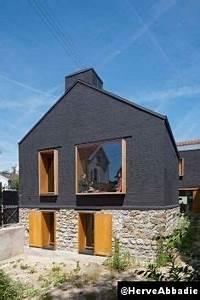 maison leguay d39espace et de briques noires With plan de maison facade 4 le refuge adornetto