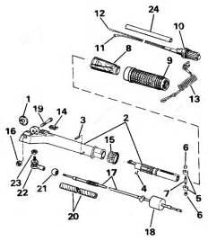 Johnson 1988 30 - J30telcce  Steering Handle