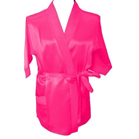 pink children satin robe