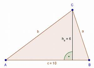 Höhe Vom Dreieck Berechnen : fl chenberechnung dreieck ~ Themetempest.com Abrechnung