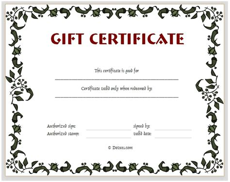 Make Your Own Gift Certificate Template by Make Your Own Gift Certificate Journalingsage