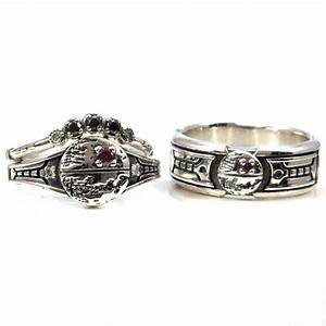 Star wars enagagement ring set exploded death star with for Star wars wedding rings