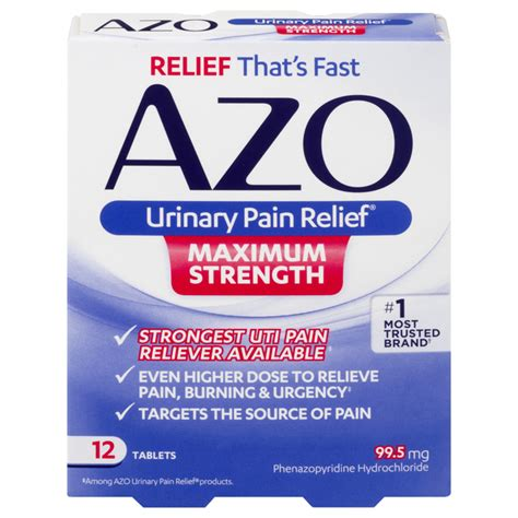 Save on AZO Urinary Pain Relief Tablets Maximum Strength ...