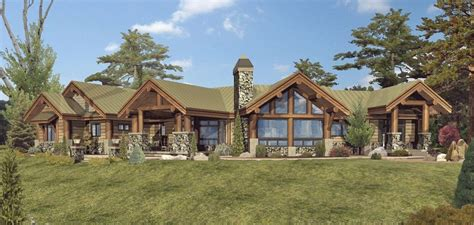 Single Level Home Designs by Large One Story Log Home Floor Plans Single Story Log Home