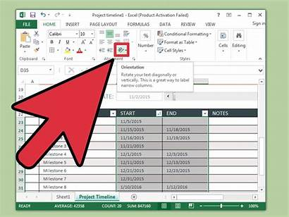 Excel Timeline Create Wikihow Ways