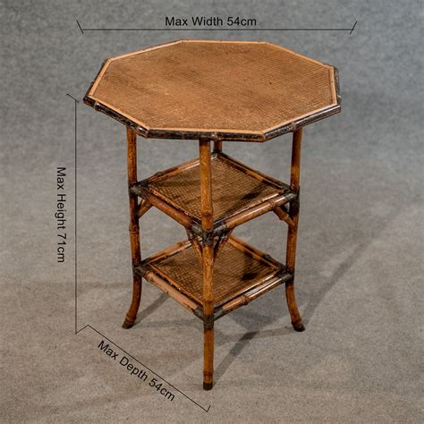 vintage bamboo side table antique octagonal bamboo table l side antiques atlas