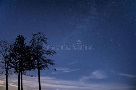 Milky Way Galaxy Image Night Sky With Clear Stars Stock