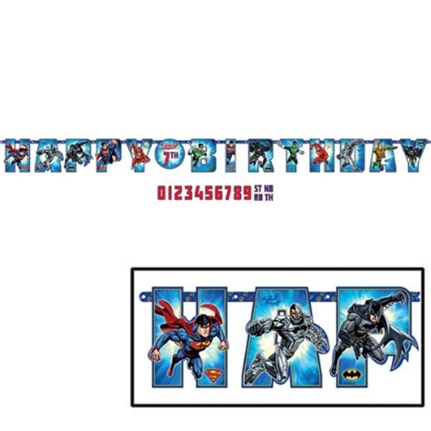 justice league add  age letter banner kids themed