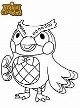 Crossing Animal Blathers Coloring Pages Fun sketch template
