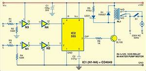 Circuit Diagram  Automatic Water Level Controller