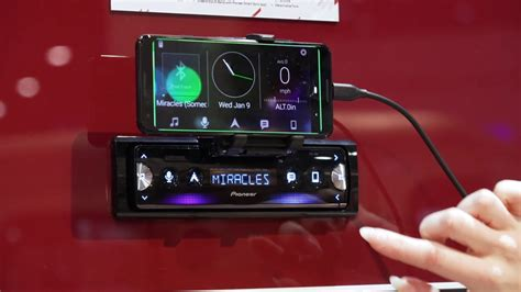 ces 2019 pioneer sph 10bt single din smartphone receiver