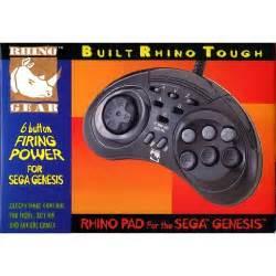 Sega Genesis Controller Rhino Pad 6 Buttons With Turbo