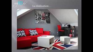 Chambre Fille Deco : chambre ado fille d co london union jack youtube ~ Melissatoandfro.com Idées de Décoration