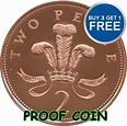 PROOF ENGLISH DECIMAL TWO PENCE 2p COINS CHOICE OF DATE ...