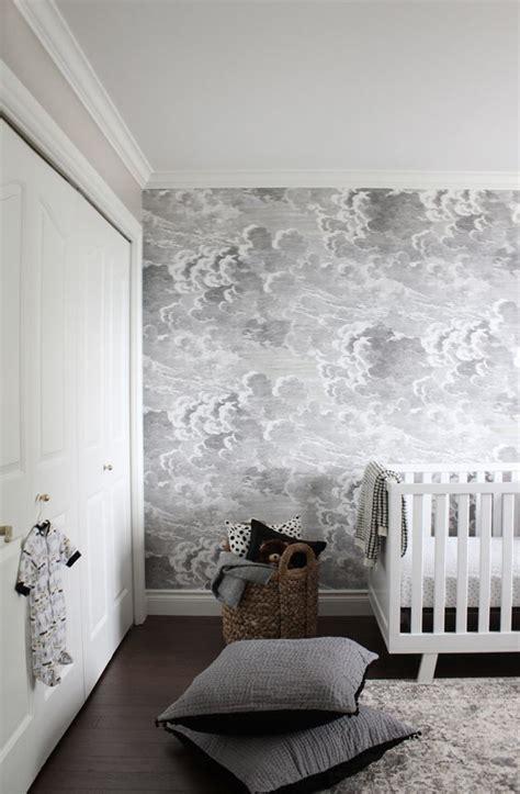 room challenge cloud wallpaper bedroom cole  son