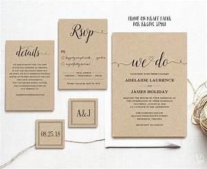 wedding invitation template rustic wedding invitations With e wedding invitation cards editable
