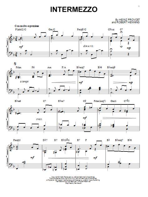 intermezzo sheet music direct
