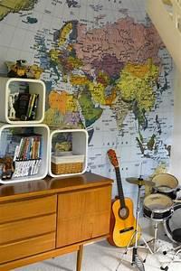 Tapete Weltkarte Kinderzimmer : diy deko mit globen und dekoideen mit weltkarten 44 einzigartige ideen f r den innenbereich ~ Sanjose-hotels-ca.com Haus und Dekorationen