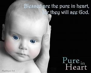 >Blessed are the pure in heart, for they shall see God ...